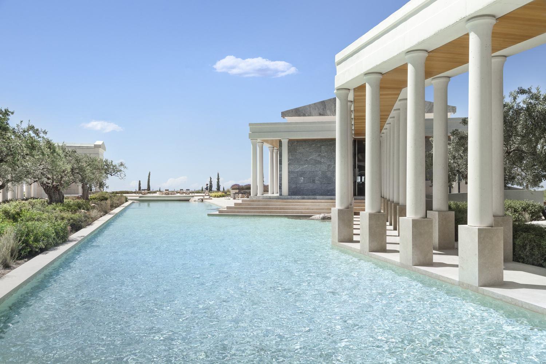 Reflecting pool and walkway